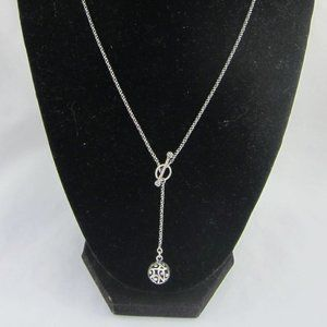 N2619. Silpada  Sterling Silver Ball Necklace